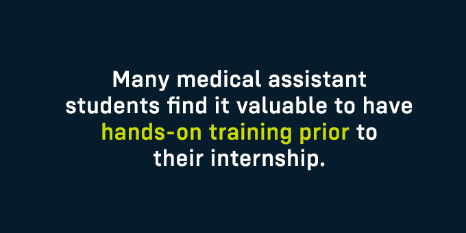Many MA students find it valuable to have hands-on training before interning.